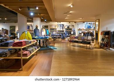 DUSSELDORF, GERMANY - CIRCA SEPTEMBER, 2018: interior shot of Esprit shop in Dusseldorf.