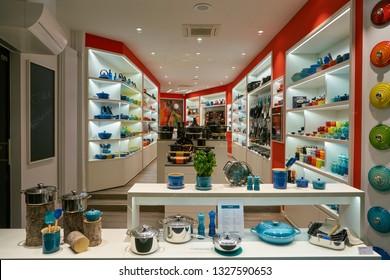 DUSSELDORF, GERMANY - CIRCA SEPTEMBER, 2018: kitchenware on display at a store in Dusseldorf