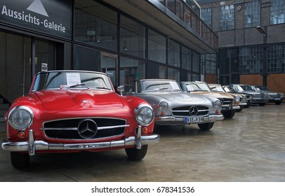 DUSSELDORF, GERMANY: Classic Mercedes Benz vintage car in a Auto Show.