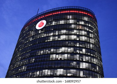 DUSSELDORF, GERMANY - DECEMBER 18: New Vodafone commercial and technical center in Dusseldorf, Germany on December 18, 2013