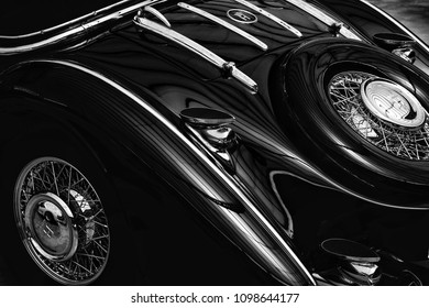DUSSELDORF, GERMANY - MAY 22: Classic vintage car Horch in an automobile show.