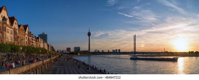 Dusseldorf riverside promenade