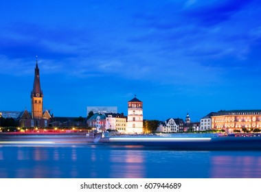 Dusseldorf Skyline at the Blue Hour, Germany
