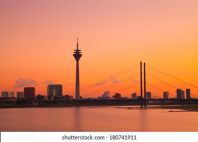 Dusseldorf Skyline at Sunset, Germany