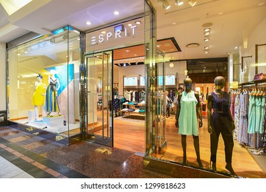 Dusseldorf,Germany-May 25,2018:ESPRIT fashion store.Esprit Holdings Limited  is a publicly owned manufacturer of clothing, footwear, accessories, jewellery, housewares and headquartered in Hong Kong.