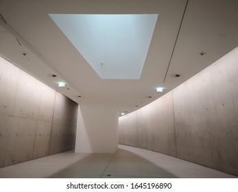 Dusselsdorf, Germany - February 2, 2020: Interior of Kunst Im Tunnel KIT Museum