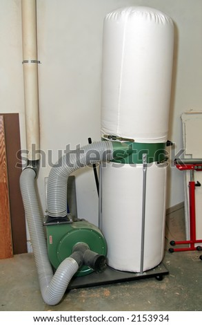 Dust Collector Home Woodworking Shop Stock Photo Edit Now 2153934