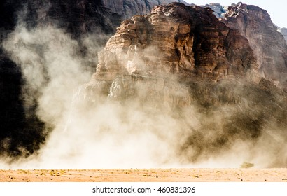 Dust Devil in Wadi Rum, Jordan