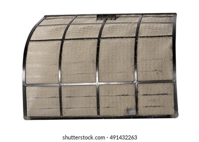 Dust and dirt of air conditioning filters.