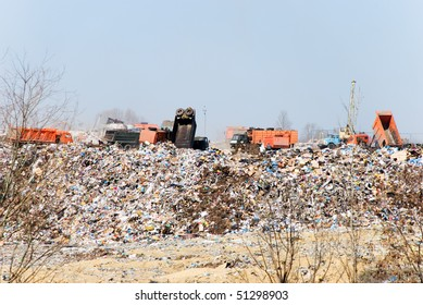 Dust dump in a city