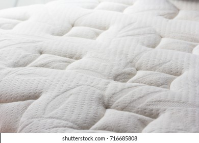 dust mites on bed, mattress background and texture. concept : allergy in bed room
