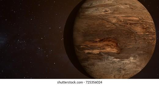 Dust planet.3D illustration