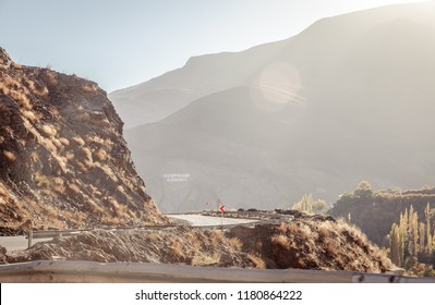 Dust road in the iranian mountains, Persia