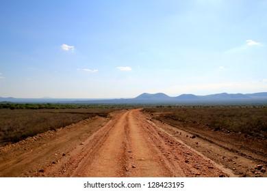 Dust Road to the Kenyan Savannah and Safari