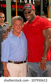 "Dustin Hoffman and Michael Clarke Duncan at the Los Angeles Premiere of ""Kung Fu Panda"". Grauman's Chinese Theatre, Hollywood, CA. 06-01-08"