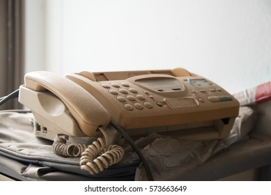 Dusty old fax machine