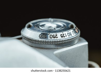 Dusty Old Soviet camera close-up macro details