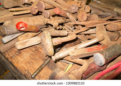 Dusty old tools collection