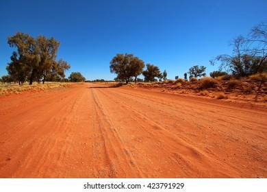 Dusty outback road, Australia