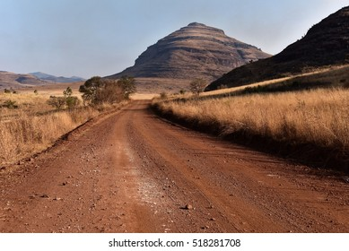 Dusty road after pilgrims rest in South Africa
