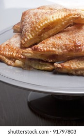 dutch appelflappen on a covered plate