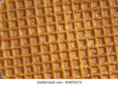 dutch caramel waffle surface sweet food background