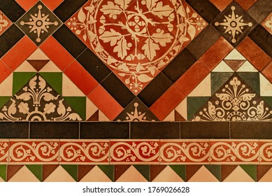 Dutch Cathedral Floor Intricate, Handpainted Tiles