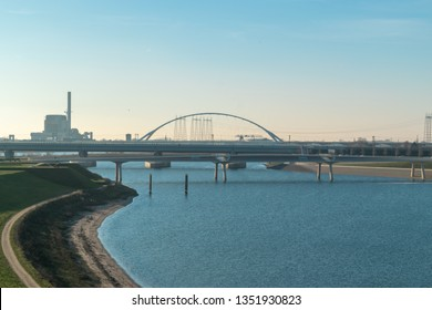 The Dutch city of Nijmegen with the river Waal in front