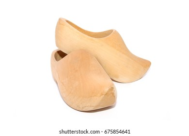Dutch clogs isolated on white background
