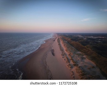Dutch coast. Sea, sand and dunes.