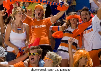 Dutch fans at soccer game in Cape Town, South Africa