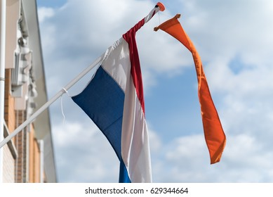 Dutch flag at Kingsday in The Netherlands