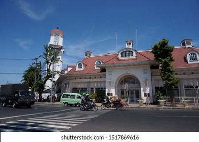 Dutch heritage building which is a hundred years old in Surabaya, is used as an bank mandiri surabaya office now (surabaya, september 27th 2019)