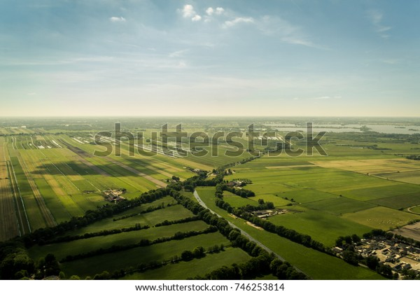 Dutch landscape from the air