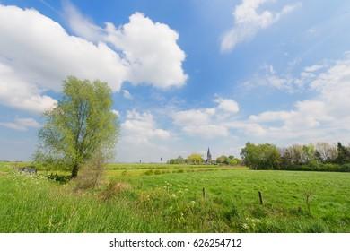 Dutch landscape with little village in Achterhoek
