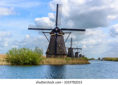 Dutch mills in Kinderdijk, South Holland