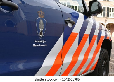 Dutch miltary police car close up
