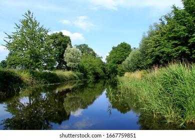 Dutch nature reserve on continuous channel