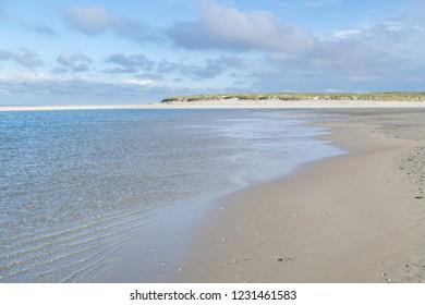 Dutch North Sea coast at Paal 25 on Dutch island of Texel