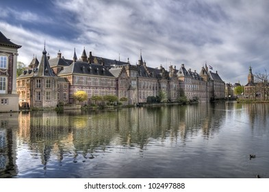Dutch parliament buildings Binnenhof in The Hague, Holland