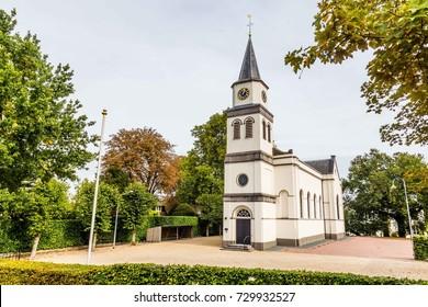 Dutch Protestant church in Waardenburg, Gelderland, the Netherlands