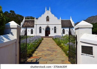 Dutch Reform Church Entrance in Franschhoek, South Africa