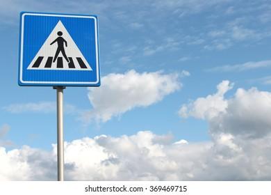 Dutch road sign: pedestrian crossing