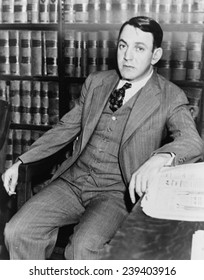 Dutch Schultz, born Arthur Flegenheimer (1902-1935), gangster and New York bootlegger was brought down by legal troubles with the IRS in 1933.