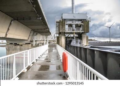 Dutch storm protection Delta works Oosterscheldekering in Zeeland, Netherlands