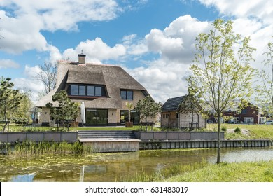 Dutch Suburban area with modern family houses,newly bould family homes in the Netherlands