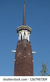 The Dutch tower the 'koningstoren' at the koningshof in Nijmegen the Netherlands