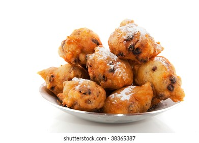 Dutch traditional food oliebollen for new years eve