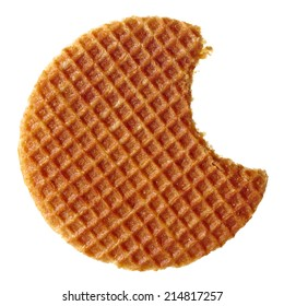 Dutch waffle isolated on white background