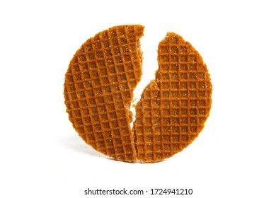 Dutch waffles Isolated on a white background